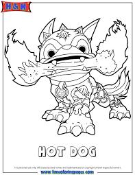 Skylanders Swap Force Fire Hot Dog Series2 Coloring Page