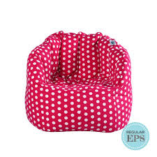 Chilla Fabric Bean Bag Chair (Pink With Polka Dots, Regular EPS ... Restnsleep Xxxl Bean Bag Filled Teardrop Chair With Polyfil Biggie Filler Joann Hayzi With Beans Egyptian Blue Spacex How Much Refill Need To Fill My Factory Of Shop Your Way Online Teardrop Dark Dropzzz Spandex Sg Singapore Bags Get Comfy Eps Filling Light Green Twist Beanbag Classic Jumbo Sac Size Grey Color Fillers Dolphins Ela The Best 2019 Digs