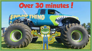 Gecko Meets A Monster Truck And More Vehicles For Children ... 100 Bigfoot Presents Meteor And The Mighty Monster Trucks Toys Truck Cars For Children Cartoon Vehicles Car With Friends Ambulance And Fire Walking Mashines Challenge 3d Teaching Collection Vol 1 Learn Colors Colours Adventures Tow Excavator The Episode 16 Tv Show Monster School Bus Youtube