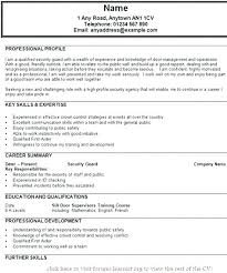 Resumes For Security Officers Professional Officer Resume Sample Objective