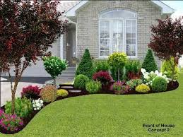 Front Garden Landscaping Idea Inspiration For Yard In Of Big Window With The Rocks