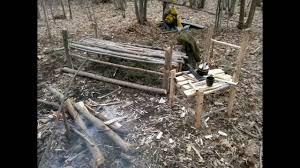 Bushcraft Furniture With Scotch Eyed Auger