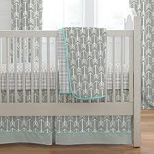 amazon com carousel designs gray and teal arrow three piece crib