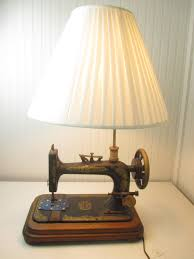 Vintage End Table With Lamp Attached by Vintage Singer Sewing Machine Wall Or Table Light Projects To