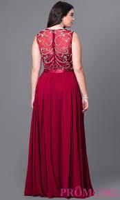 jeweled illusion plus size prom dress promgirl