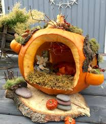 Fake Carvable Plastic Pumpkins by Pumpkin Fairy House Created By C Westover Halloween