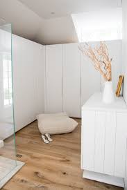 this bathroom and walk in closet combination are fully open