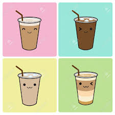 Iced Coffee Icon Set Stock Vector
