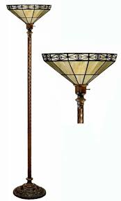 Tiffany Style Glass Torchiere Floor Lamp by Tiffany Style Mission Style Off Yellow Torchiere Floor Lamps