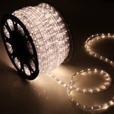 150 Warm White LED Rope Light Home Outdoor Christmas Lighting