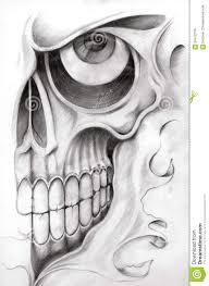 Download Skull Art Tattoo Stock Illustration Of Face