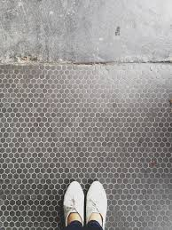 Tile Shop Morse Road by Mudroom Bath Grey Hex Floor Tiles Tile Style Pinterest