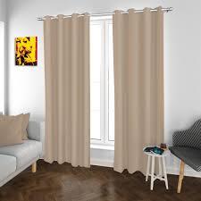 2er set ösenvorhang vorhänge beige 140x260cm gardinen schal dekoschal wohnzimmer