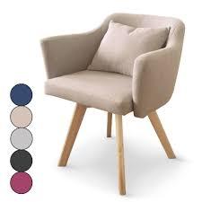 chaises fauteuil chaise fauteuil scandinave dantes tissu 5 coloris