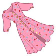 pink polka dot dress clipart collection