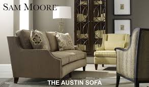 Sam Moore Leather Sofa by Sam Moore