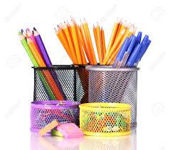 fournitures de bureau détenteurs de couleur pour les fournitures de bureau avec eux sur