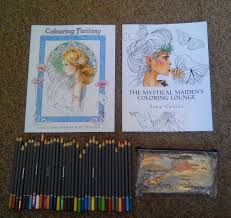 2x Adult Colouring Books WHSmith Pencils