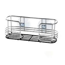 dual suction chrome sink caddy bed bath beyond