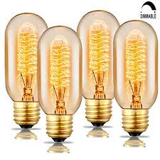 soofoo t45 edison tubular style bulb vintage antique light bulb