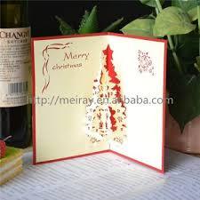 Fancy Design Creative Laser Cut Handmade QuotChristmas Treequot 3d Christmas Cards