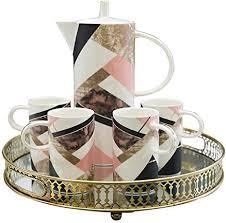 de 6 sets europäisches teeset kaffeeset modern
