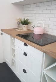 küche küchenzeile mit geräte landhaus shabby lamellen eckküche