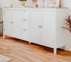 sideboard weiß eiche wohnzimmer esszimmer anrichte landhaus bergen 180x90 cm