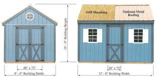 Shed Anchor Kit Instructions by Best Barns Regency 8x12 Wood Storage Shed Kit Regency 812