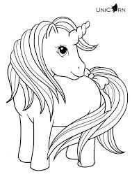 Pretty Unicorn Coloring Pages For Kids Printable Free