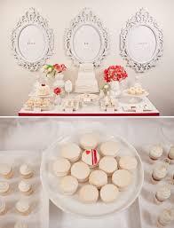 Elegant Dessert Table In Red White