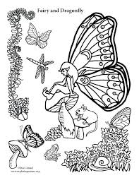 Dragonfly Coloring Sheets Cute Page Free Fairy And Pictures Pages F