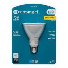 ecosmart 75w equivalent bright white par30 led flood light bulb