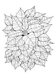Leaves Around A Little Flower Original Drawing