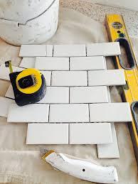 how to install subway tile backsplash using mini tile sheets from