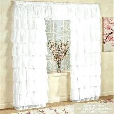 Simply Shabby Chic Curtain Panel by White Ruffled Curtains Shabby Chic Ivory Lace Love Curtain Panel