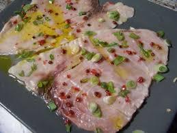 comment cuisiner le poisson carpaccio d espadon aux baies roses