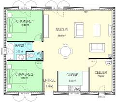surface chambre construction 86 fr plan maison plain pied traditionnel de type 3