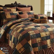 American Brown Twin Queen Cal King Size Patchwork Quilt Collection Bedding Set