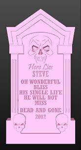 Halloween Tombstone Names by Personalized Foam Tombstone Skull Tall Halloween Yard
