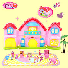 Doll house furniture miniature Plastic dolls Pretend Toy american