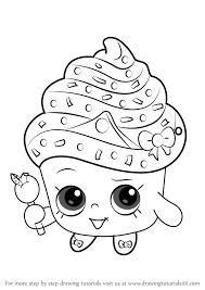 Learn How to Draw Cupcake Queen from Shopkins Shopkins Step by Step Drawing Tutorials