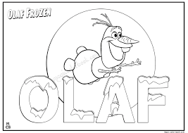 Olaf Frozen coloring pages 04