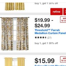 65 off threshold other threshold farrah medallion curtains from