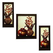 Buy 3 PIECE SET OF FRAMED WALL HANGING ART Online At Low Prices In India