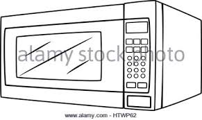 cartoon microwave electric appliance design · Illustration of Isolated Microwave Oven Cartoon Drawing Vector EPS 8 Stock