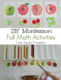 Fabulous Themed Fall Montessori Activities Apple Nature Ideas Leaf Activties Free