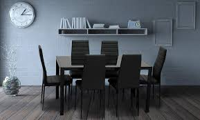 IDS Online MLM-17429-6-BK-foot Pad Modern Glass Dining Table Set, Black Raven Farmhouse 6piece Ding Set The Dump Luxe Fniture 132 Inch Round Satin Tablecloth Black 6 Foot Farm Table Kountry Kupboards With 8 Chairs Foot Cedar Table Steves Creations Correll 30w X 72l Ft Counter Height 36h 34 Top Highpssure Laminate Folding Lifetime Foldinhalf White Granite 6foot Plastic Traing 2 Trapezoidal Back Stack Chairs Details About Portable Event Party Indoor Outdoor Weatherproof Buffet New Vintage Oak Refectory Kitchen And In Brnemouth Dorset Gumtree Banquet Seating Decor How To Up For Holiday Parties Lerado 6ft Foldin Half Rect Table Raptor Concept Store