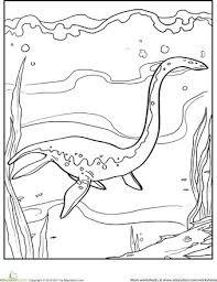 Color The Dinosaur Elasmosaurus