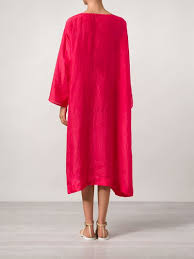 dosa oversized silk tunic dress in red lyst